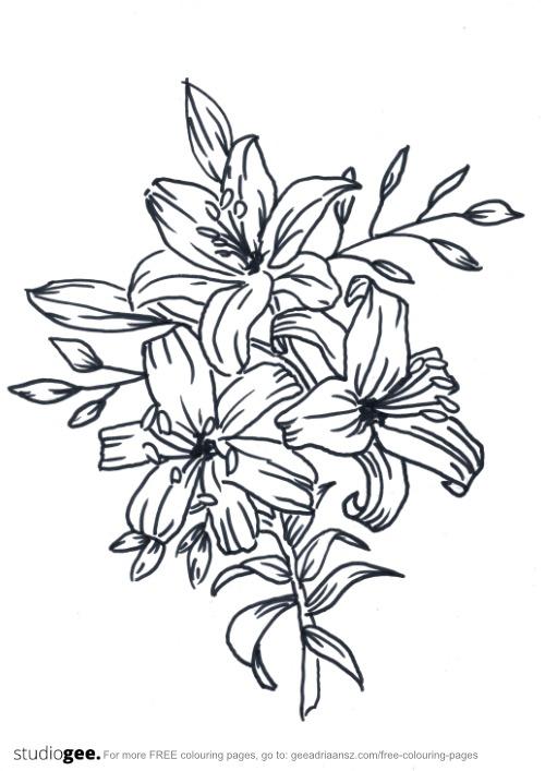 Colouringpage Flowers 2