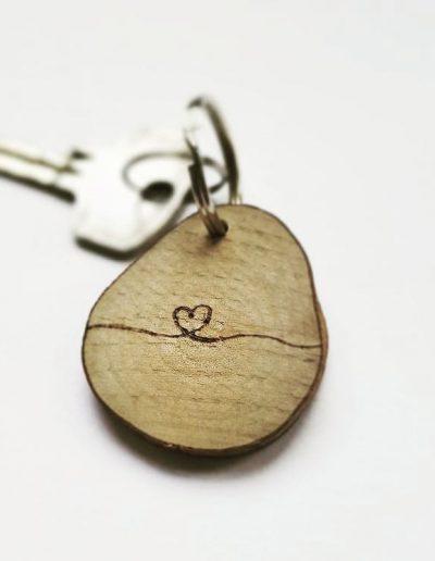 Sleutelhanger met hart